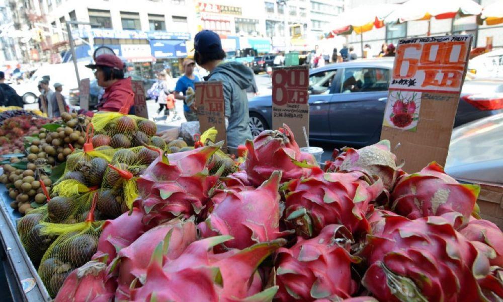 Des stands à Chinatown