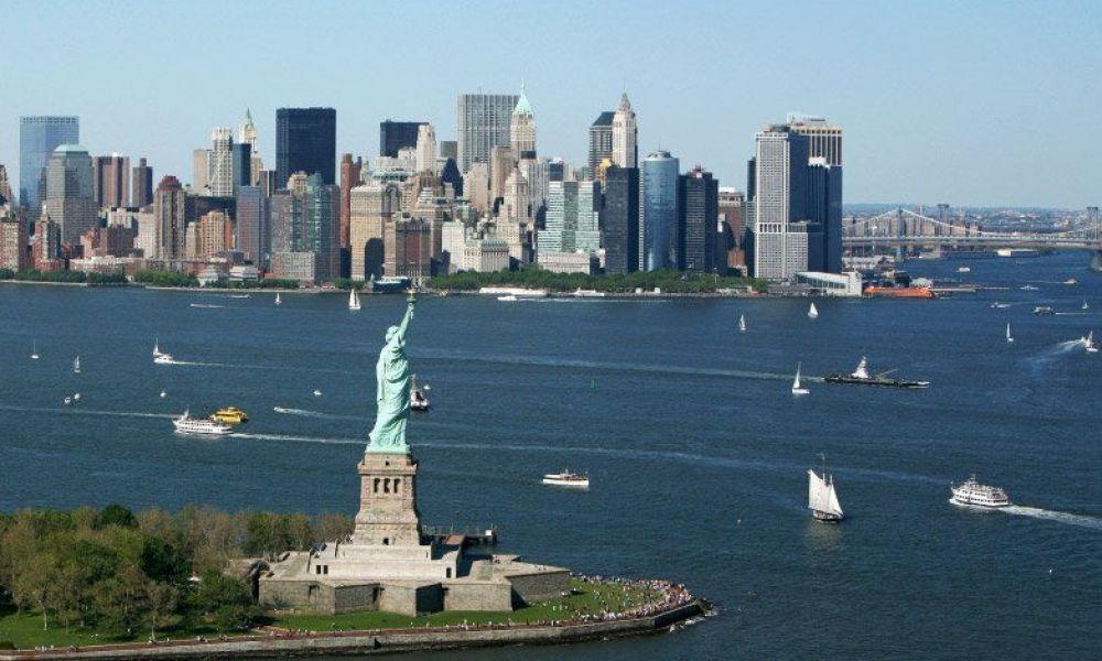 Manhattan vu de l'hélicoptère