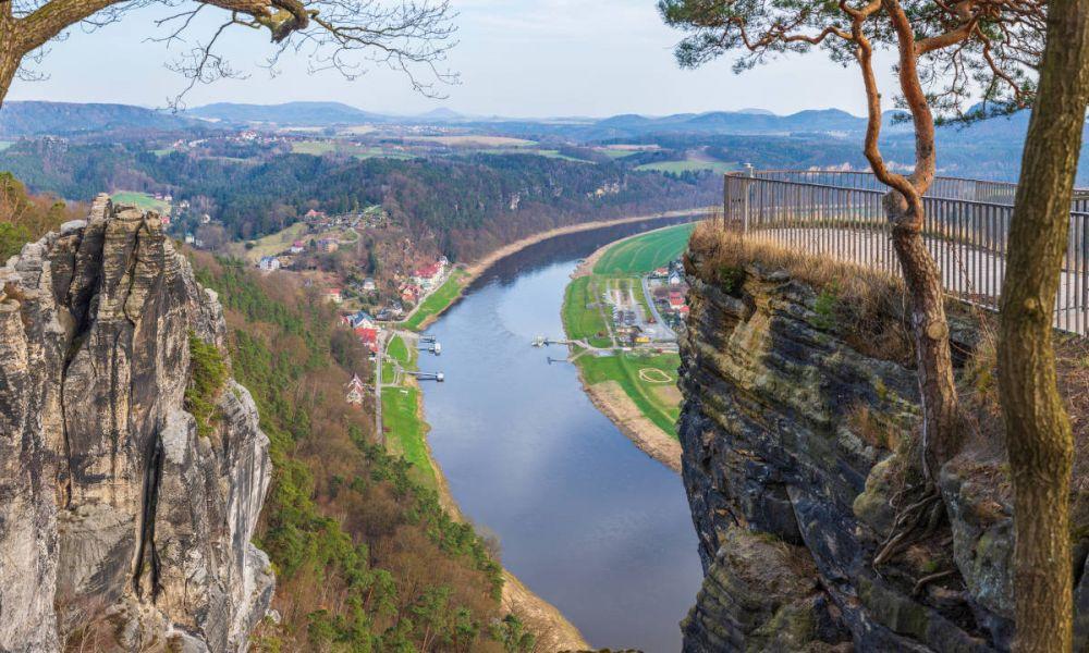 Le fleuve de l'Elbe
