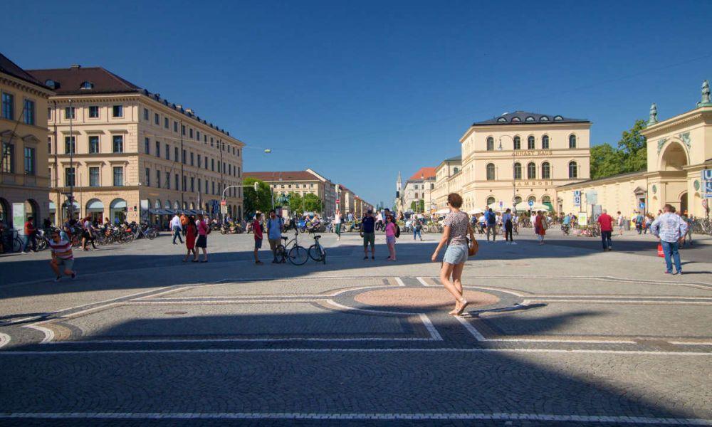 L'Odeonsplatz (place de l'Odéon en français)