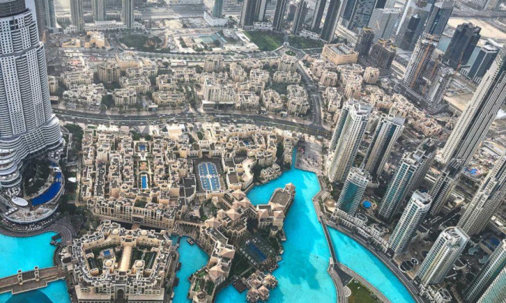 Vue depuis le 124e étage du Burj Khalifa