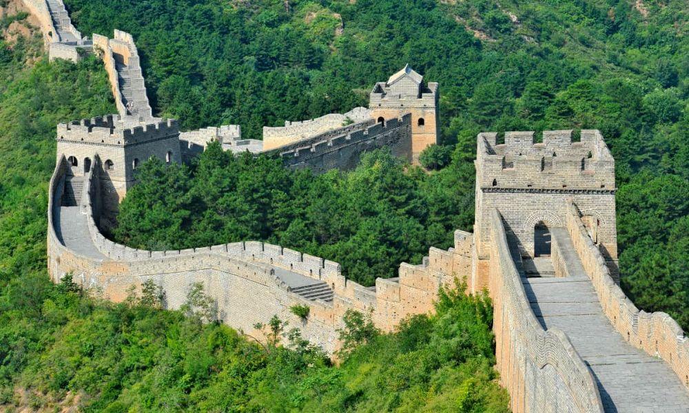Vue panoramique sur la Grande Muraille de Chine