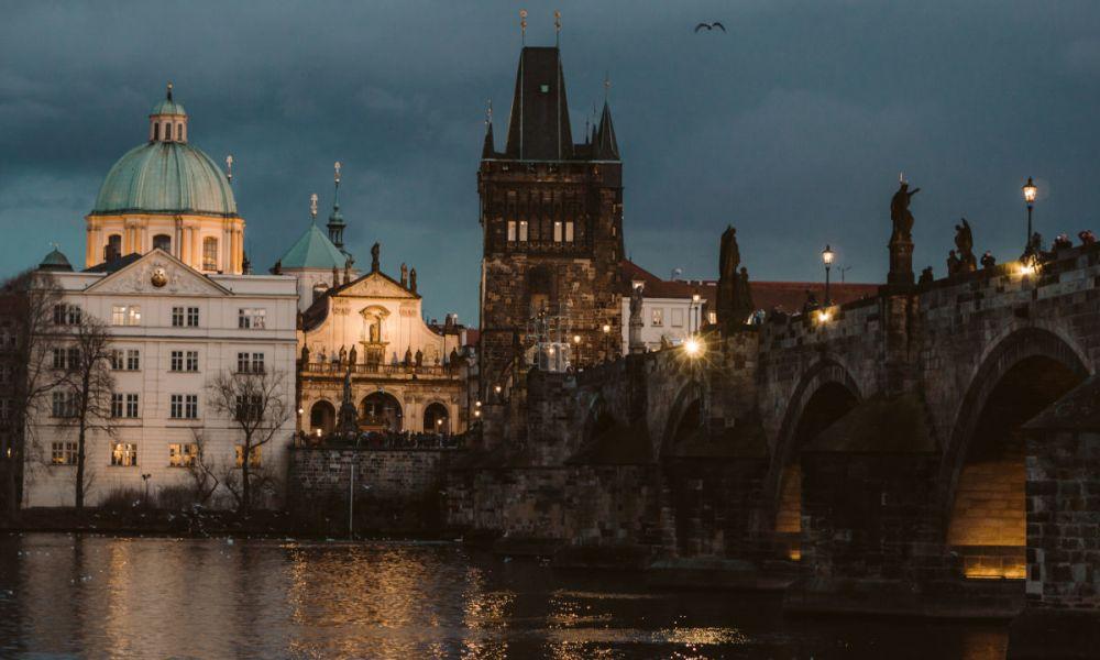 Coucher de soleil sur Prague