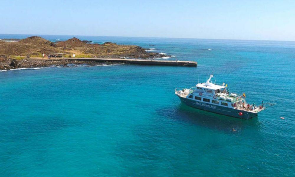 Le ferry de Fuerteventura allant à l'île de Lobos