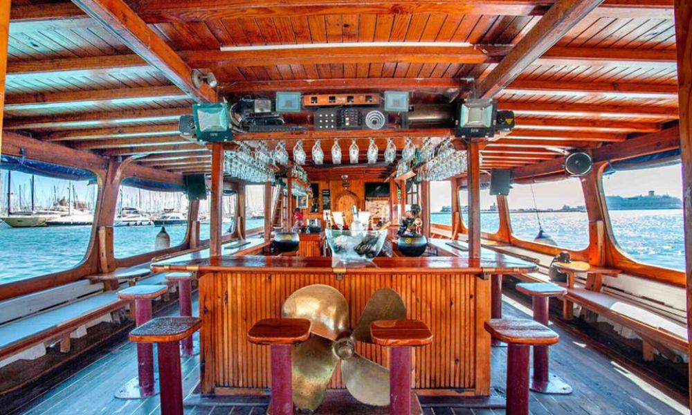 Cubierta principal Barca Samba