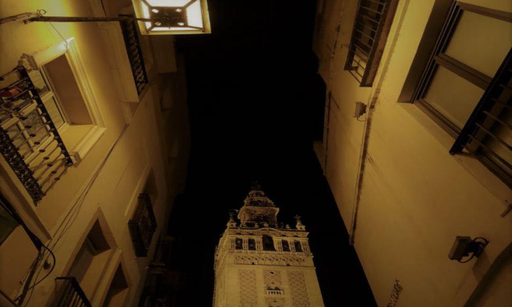 Centro de Sevilla durante la noche