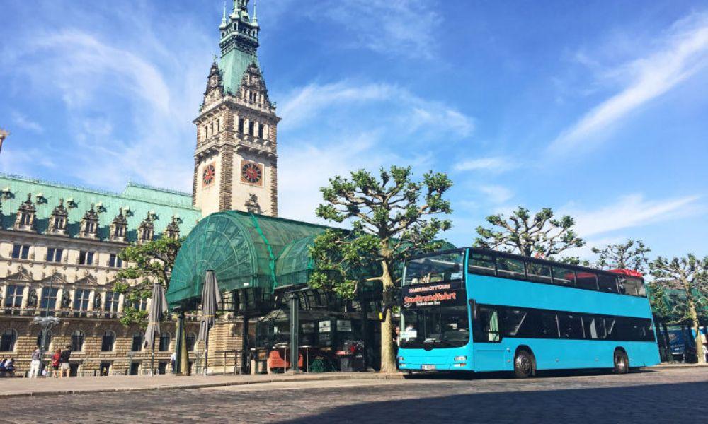 Le bus touristique d'Hambourg