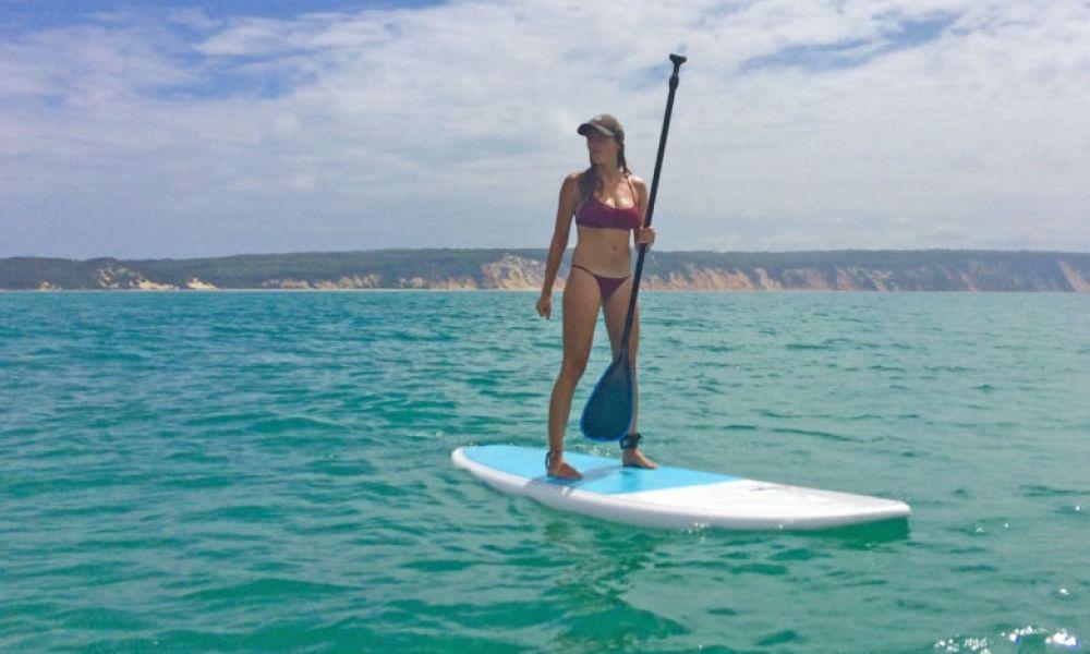 Faire du paddle surf