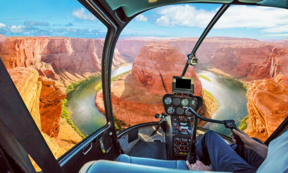 Vues du Grand Canyon depuis un hélicoptère