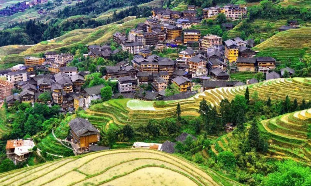 Vue sur le village de Longsheng
