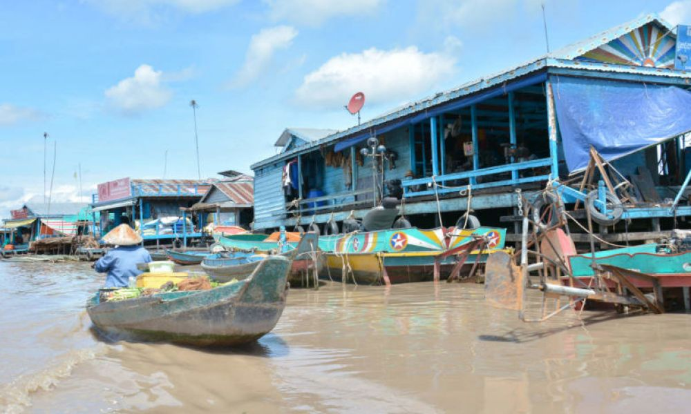 Village flottant de Kompong Luong