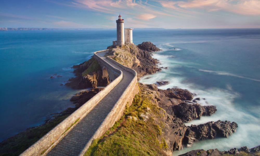 Phare du Petit Minou, près de la côte de Brest