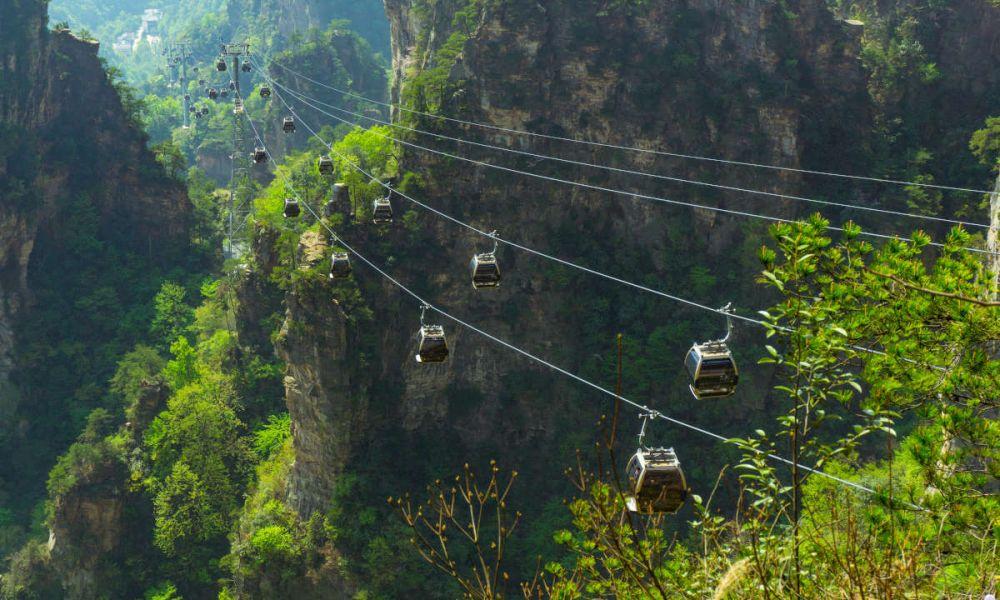 Téléphérique sur la montagne Tianzi