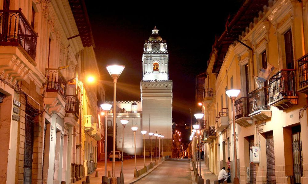 Rue de la vieille ville de Quito