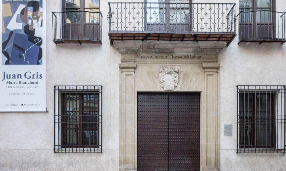 La façade du Musée Carmen Thyssen de Málaga