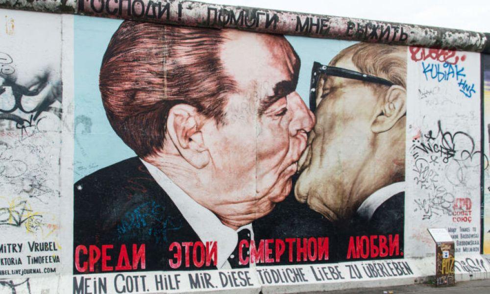 Un des tags les plus célèbres du mur de Berlin