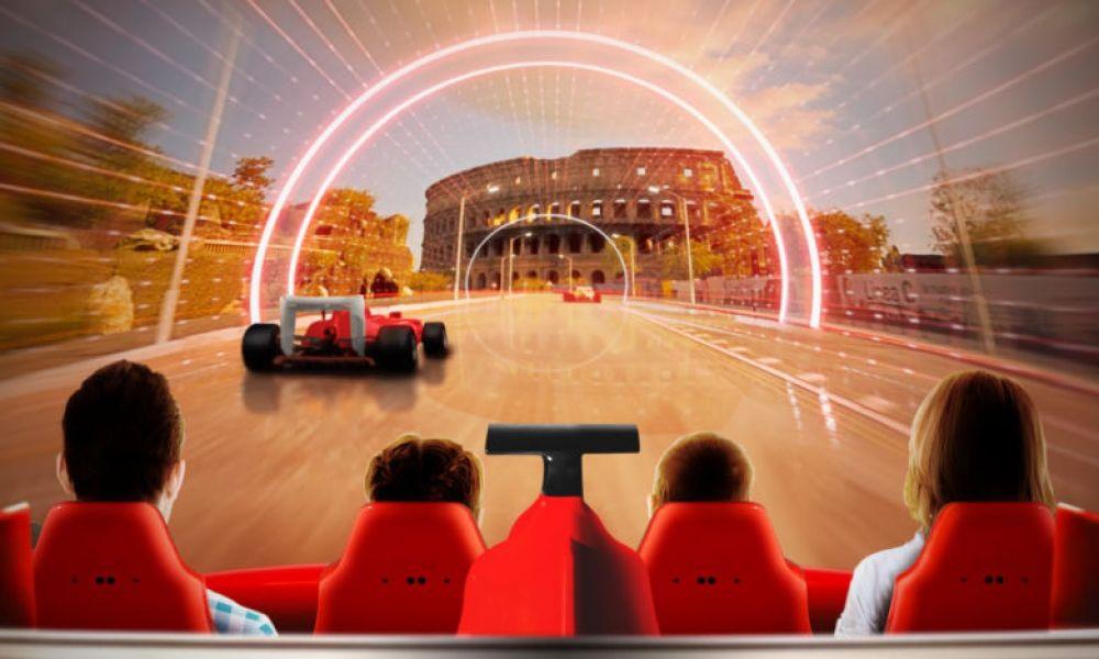 Un des simulateurs de Ferrari Land