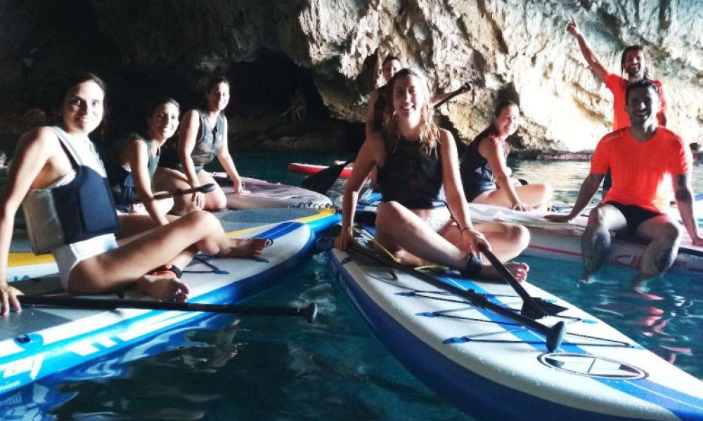 Sur les planches de paddle