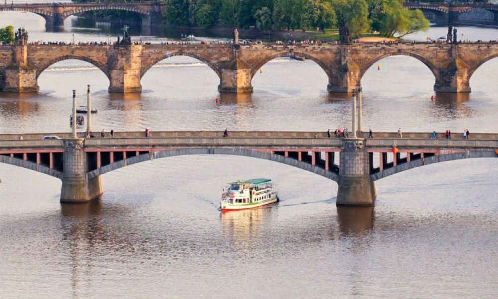 Balade en bateau sur la Vltava