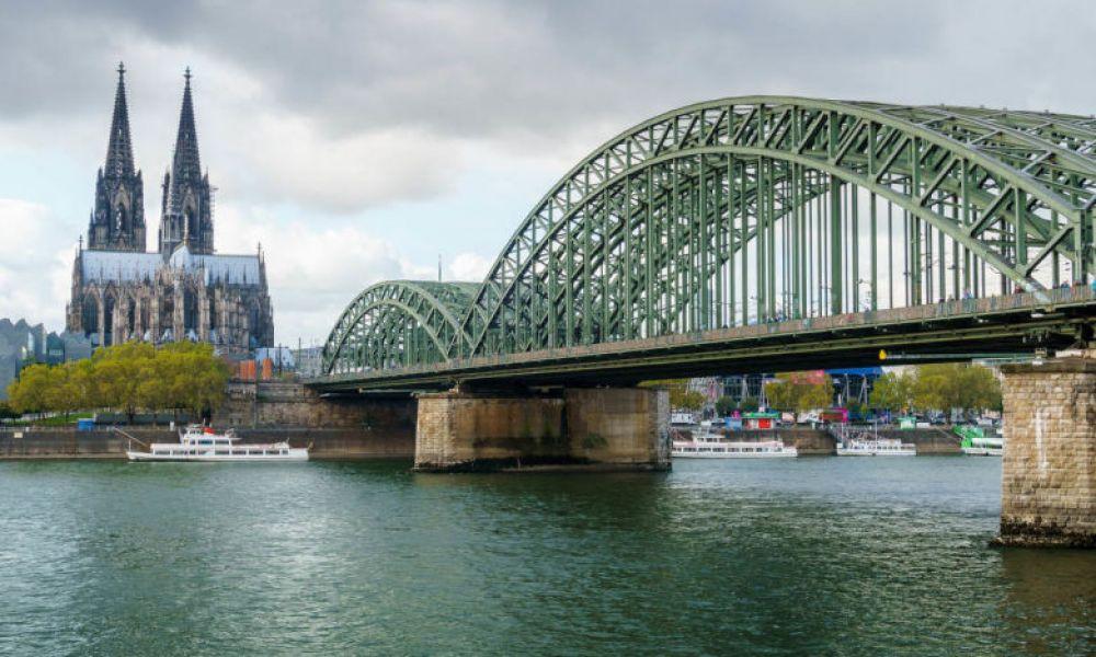 Vue panoramique de la ville de Cologne