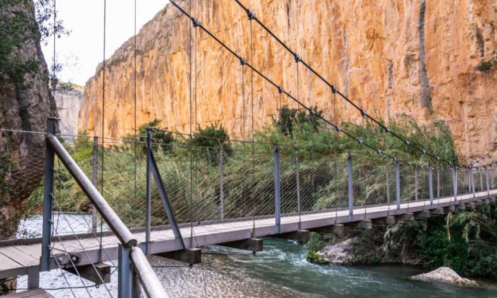 Le pont suspendu de Chulilla
