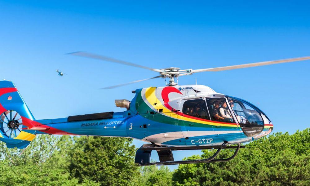 L'hélicoptère de l'excursion