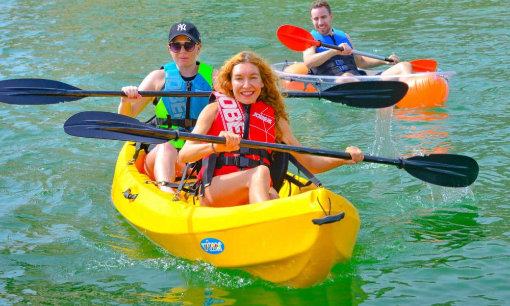 Vous pouvez choisir entre un kayak individuel ou double