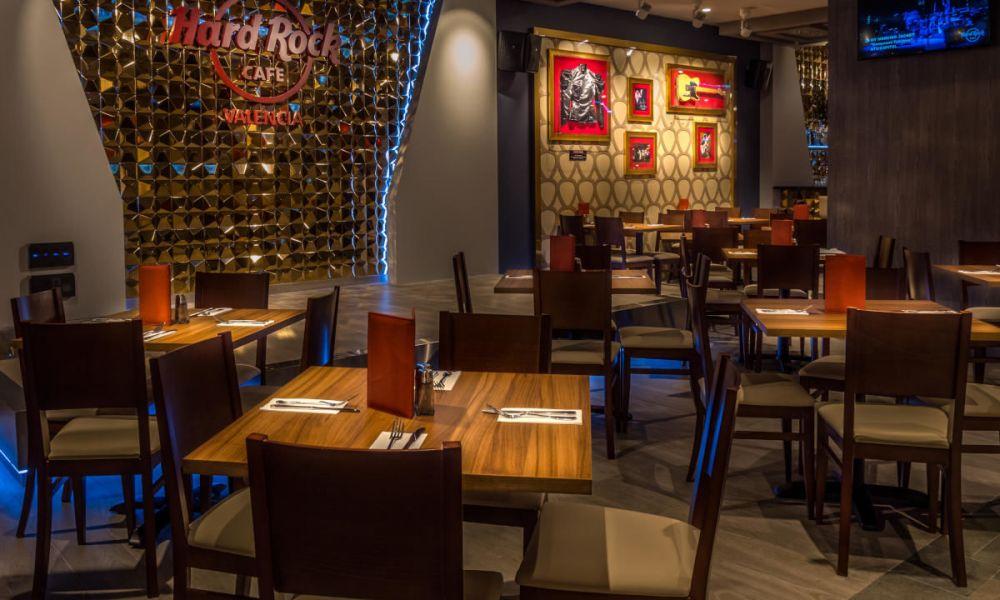Intérieur du Hard Rock Café Valence