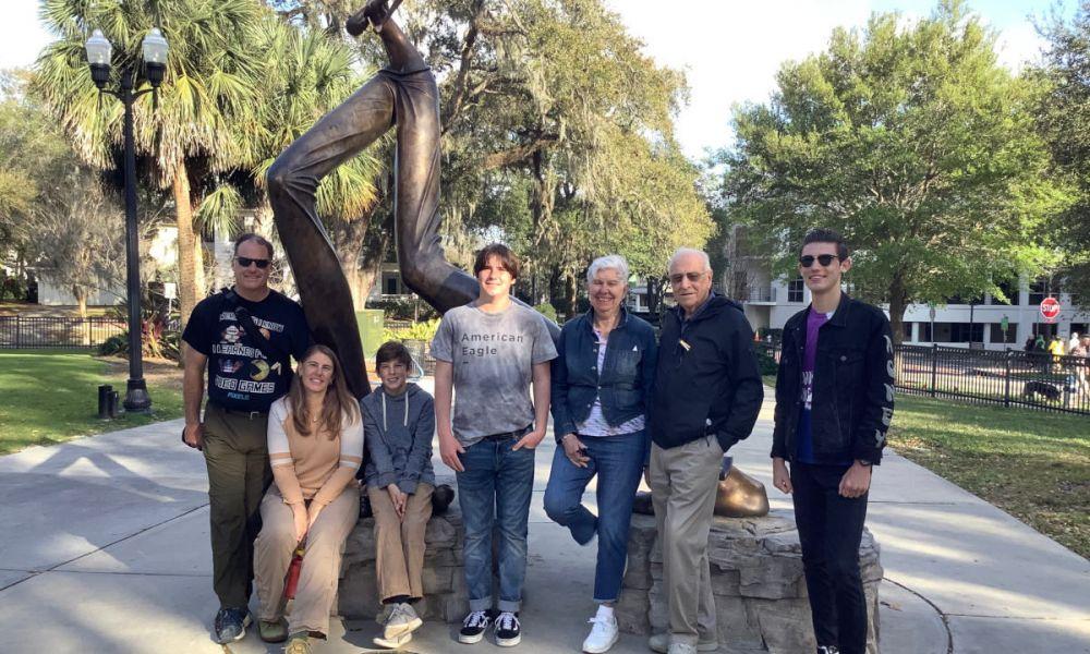 Pendant la visite guidée d'Orlando