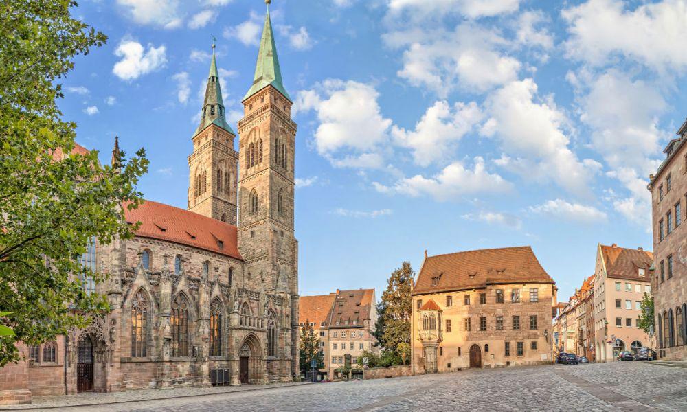 Les rues du centre de Nuremberg