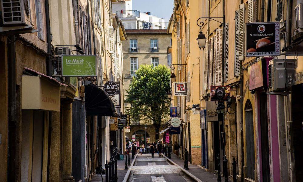 Une rue d'Aix-en-Provence