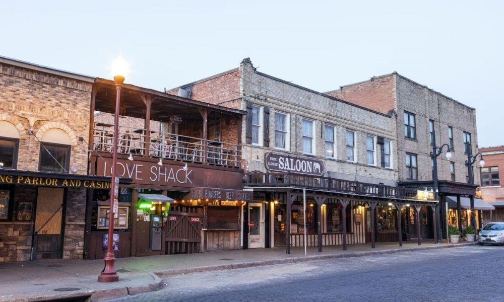 Une rue typique de Fort Worth