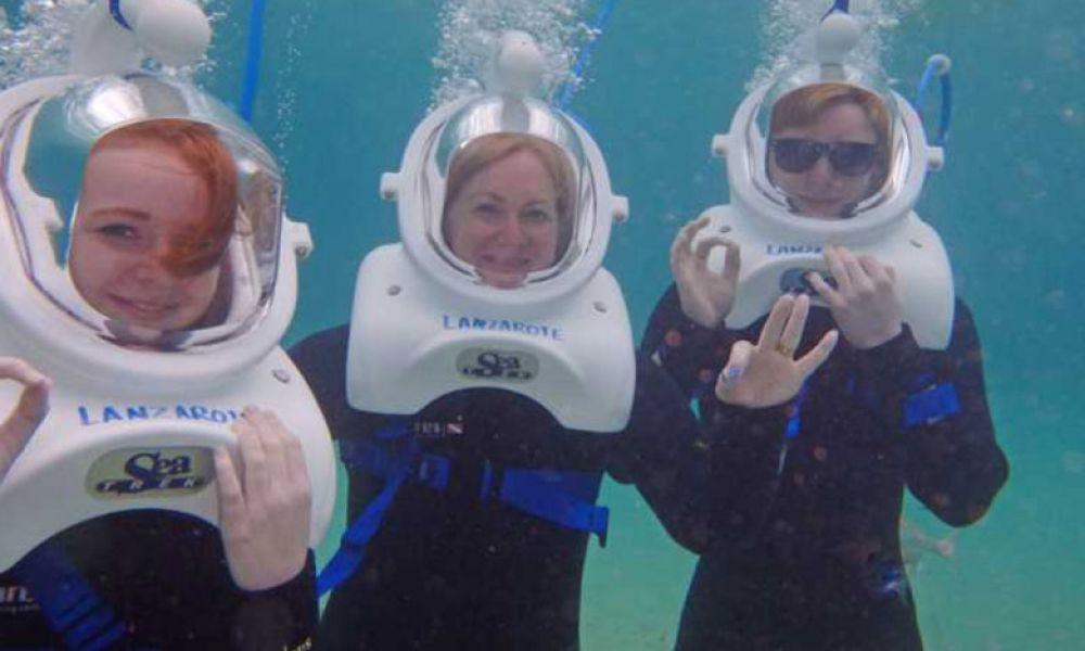 Moments en famille pendant le Sea Trek