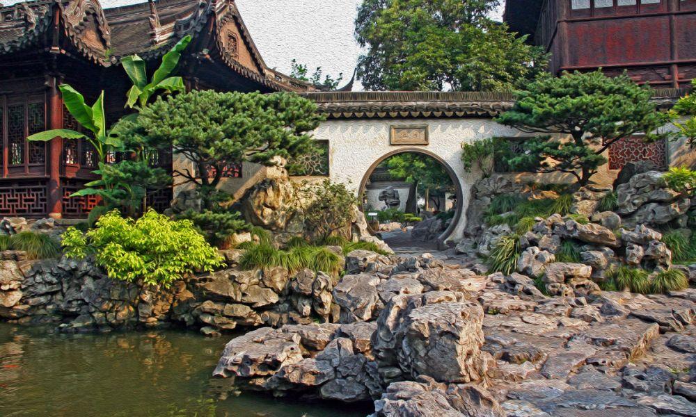 Jardins Yuyuan de Shanghai