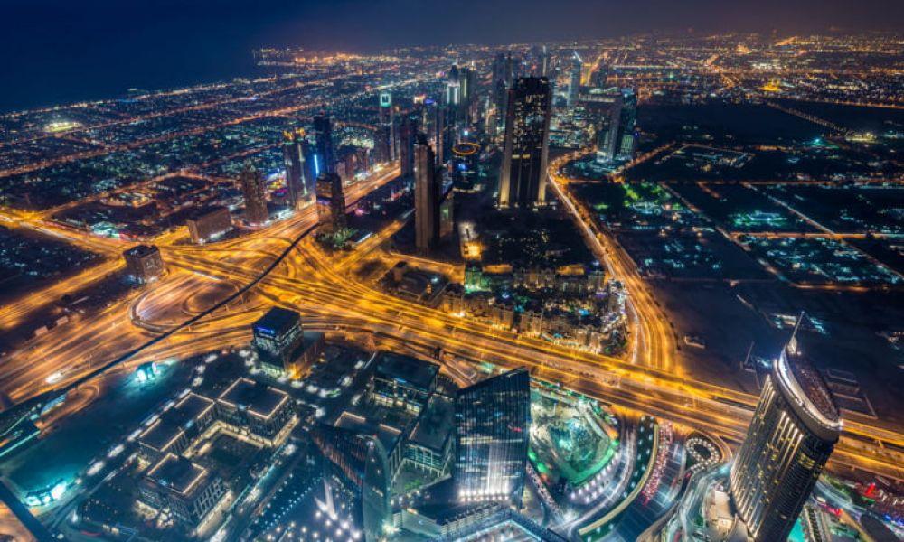 Dubaï au coucher de soleil