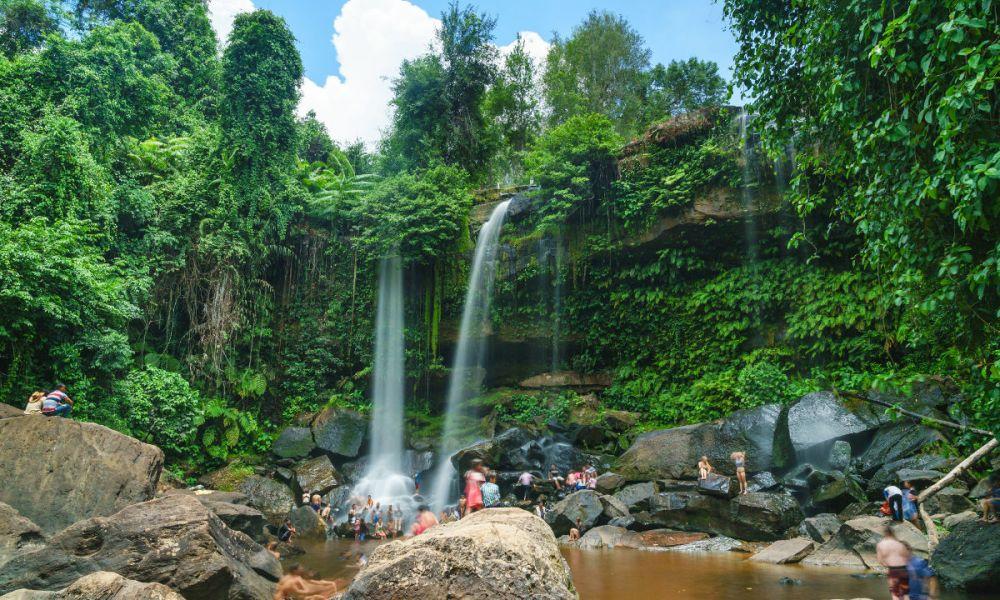 Les cascades de Phnom Kulen