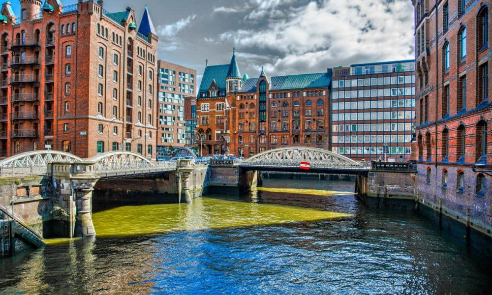 Le quartier Speicherstadt d'Hambourg