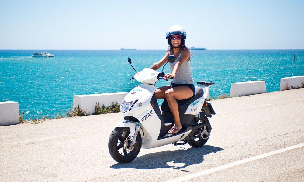 Balade de Formentera en moto