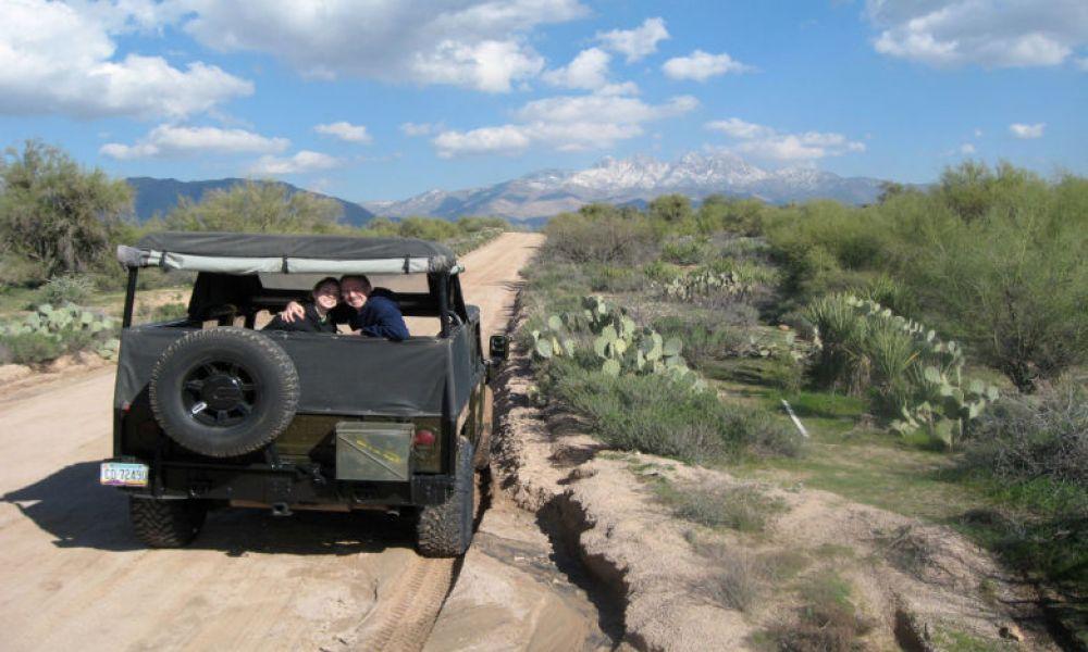 À bord du 4x4 dans le désert de Sonora