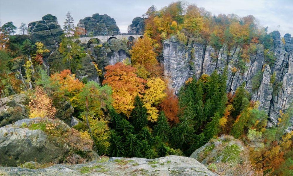 Bastei Bridge in Autumn