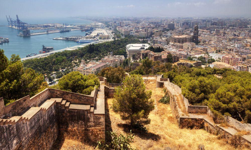 Vue sur Malaga depuis le mont Gibralfaro