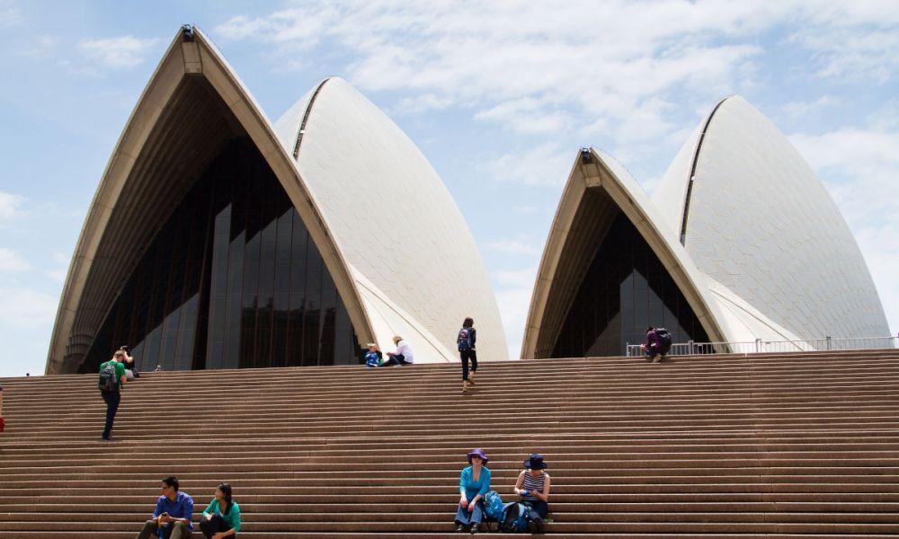 Les marches de l'opéra de Sydney