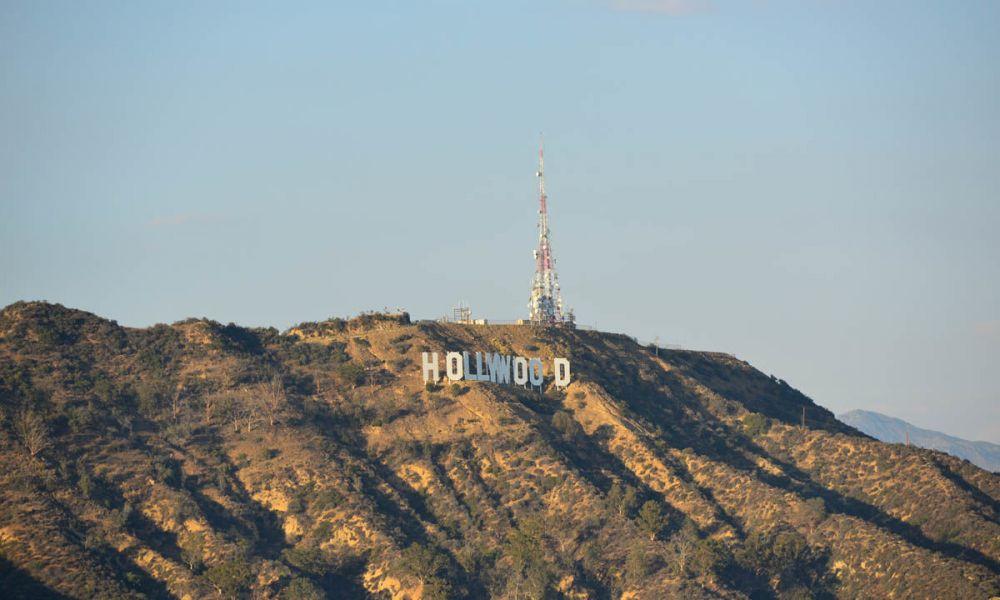 Vue sur les lettres d'Hollywood