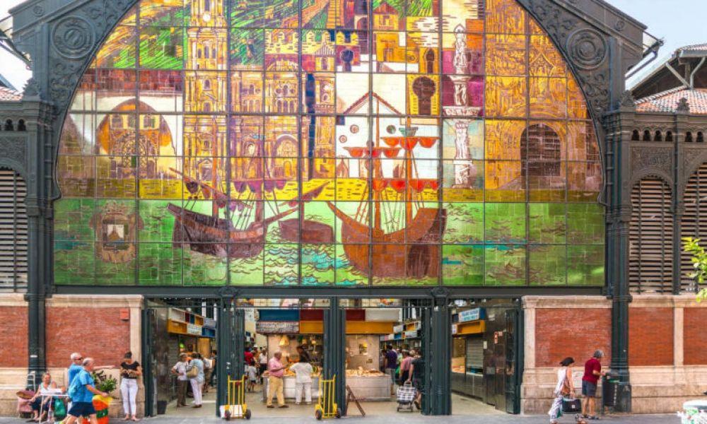 L'entrée du marché d'Atarazanas de Malaga