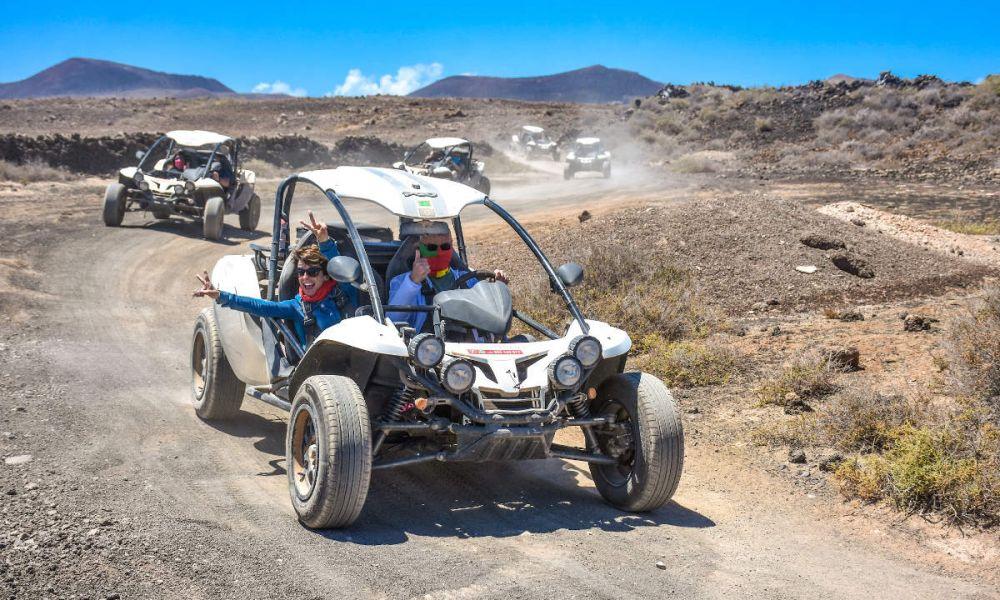 Pendant l'excursion en buggy