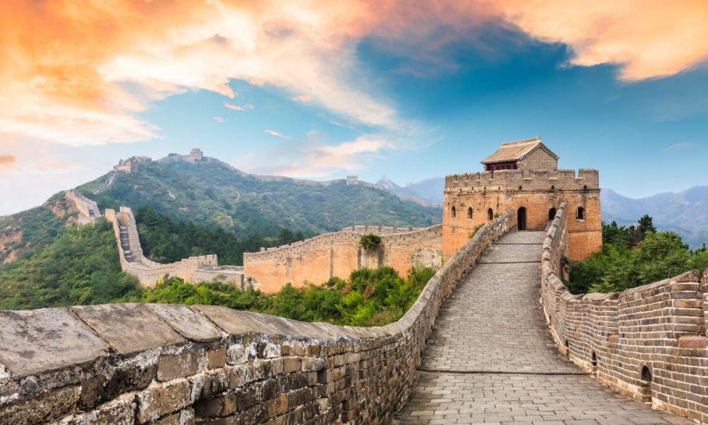 Le dragon chinois fait de briques