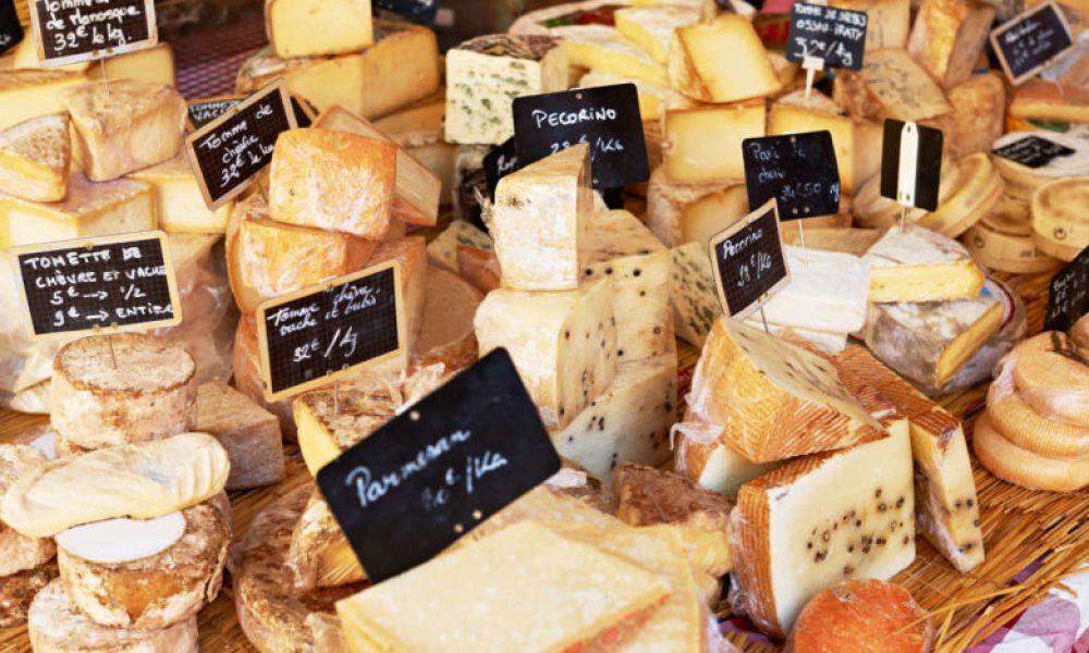 Une grande variété de fromages