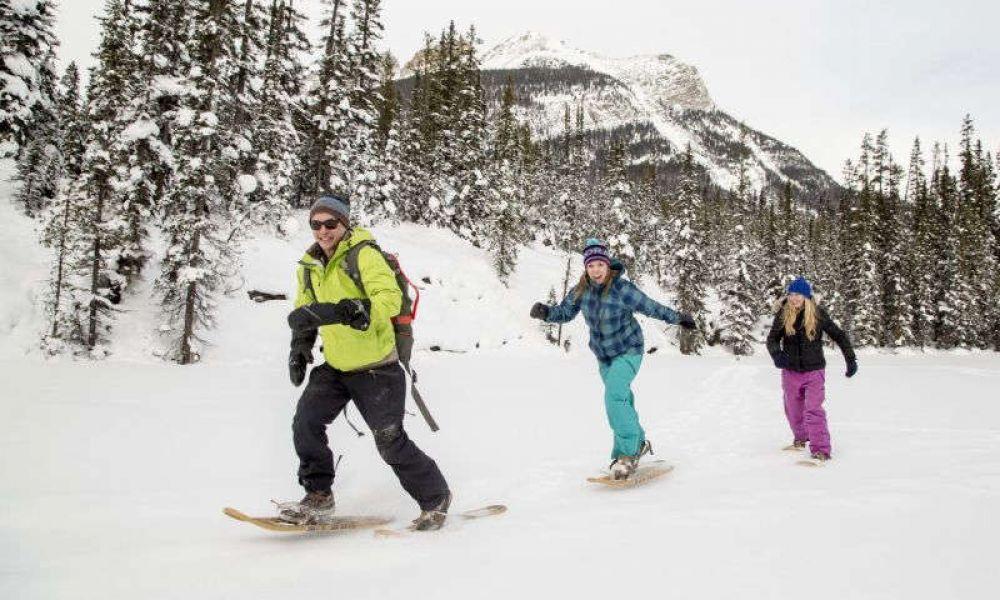Raquettes à neige à Banff