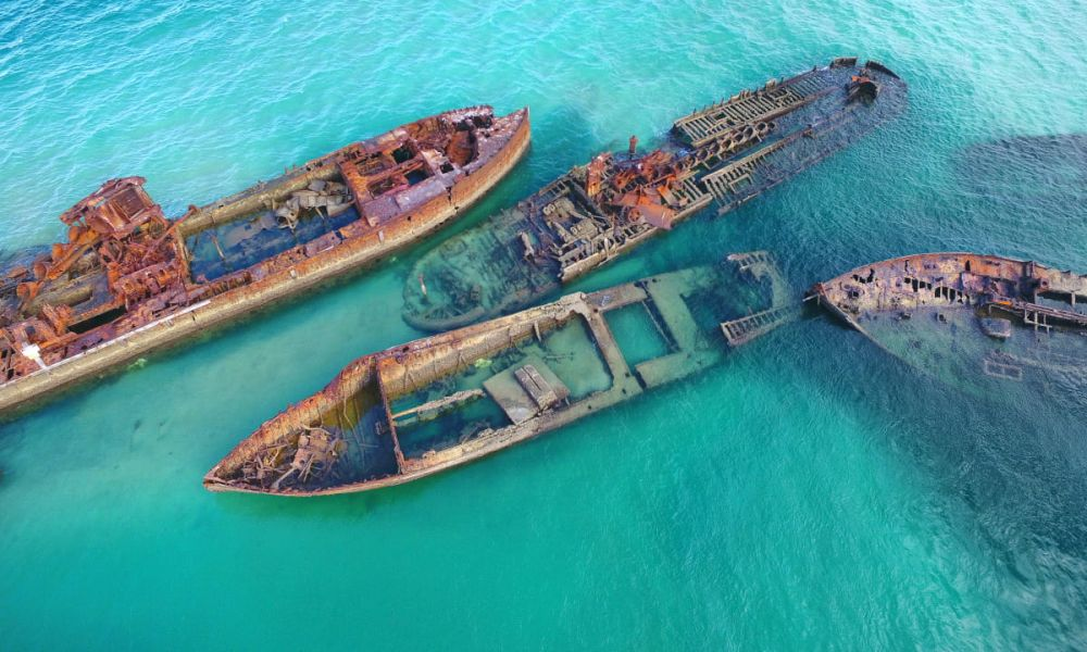 Bateaux engloutis de Tangalooma