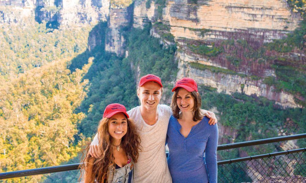 Touristes aux Montagnes Bleues